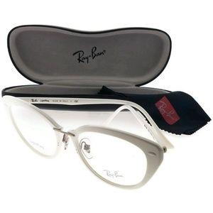 RX7088-5618-52 Women's White Frame Eyeglasses